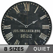 1822 Old Sheriffs Vintage Wall Clock Ultra Quiet Comes In 8 Sizes