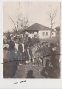 Old Photo Original Wwi Gypsy. Balkan State. Sepia Photo.