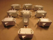 Lot Of 10 Used 12 Volt On / Off Switches White Camper Trailer Rv