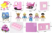 Pink Family House Bundle Baseboard Princess Compatible With Other Brands Bricks