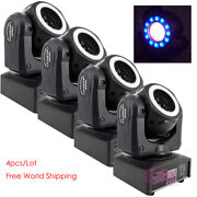 4-pack 60w Led Beam With Halo Ring For Dj Club Xmas Wedding Disco Party Lights