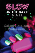 Nail Salon Mesh Vinyl - Poster - Glow In The Dark Nail Ombre Poster    P-710
