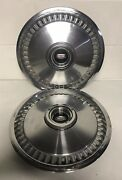 1975 76 77 1978 Ford Mercury Maveric Pair Of Wheel Covers 15 Inch Used Hubcaps
