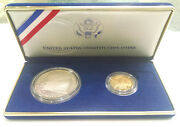 1987 U.s. Constitution Silver Dollar And Gold Five Dollar Mint Proof Set Vintage