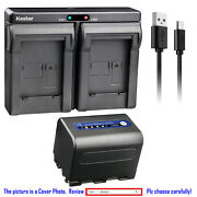 Kastar Battery Dual Usb Charger For Sony Np-qm71d Sony Dcr-pc115 Dcr-pc6 Dsc-s75