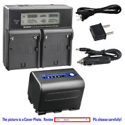 Kastar Battery Lcd Dual Fast Charger For Sony Np-qm71d Dcr-pc115 Dcr-pc6 Dsc-s75