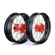 3.5and039and039 Fornt 5.0and039and039 Rear Supermoto Hubs Wheels For Exc-f 350 Xc-w 200 250 300