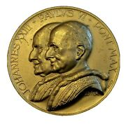 Vatican Medal Pope John Xxiii And Paulus Vi By C. Affer 1965 ecumenical Council