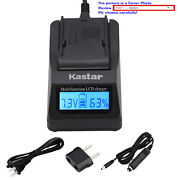 Kastar Battery Lcd Fast Charger For Sony Np-f970 Sony Gv-d800 Gv-d900 Gv-hd700e