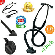 Cardiology Stethoscope Plated Chestpiece Doctor Master Tubing 3m Littmann Black