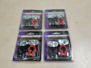 Lot Of 4 Battery Terminal 1 Positive 1 Ground Color Code Top Post Truck Car Boat