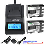 Kastar Battery Lcd Fast Charger For Canon Nb-2l 2lh And Canon Elura 40 Mc Elura 50