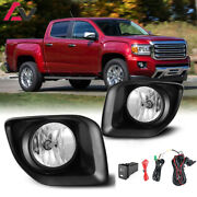 15-20 For Gmc Canyon Clear Lens Pair Oe Fog Light Lamp+wiring+switch Kit Dot