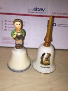 Hummel Bell Sing With Me Girl With Bird And Schmid Bell Lot