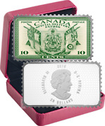 2019 Coat Arms Flags Special Delivery 20 1oz Silver Proof Coin Canada 10c Stamp
