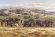 California Home Sold Out Artist Proof Museum Edition Canvas By June Carey