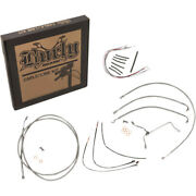 Burly 18 Stainless Handlebar Cable Wiring Kit 2014-2016 Harley Flht Non-abs
