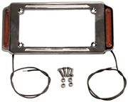 13243 License Plate Frame With Running Lights Fits All 7 X 4 License Plates