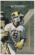 1990 Towson State University Tiger Lacrosse Pocket Schedule