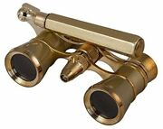 Levenhuk Broadway 325n Opera Glasses Gold Lorgnette With Led Light 3x With Acc
