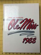 Ole Miss Mississippi University 1988 Yearbook Annual Hotty Toddy