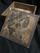 Rare Large 1927 Antique Wood Tobacco Cigar Box Liggett Myers St Louis Mo Wooden