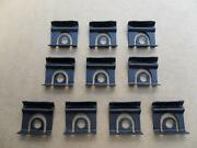 10 Nos Windshield And Backglass Molding Clips '64 1/2 Thru 66 Ford Mustang 7110z