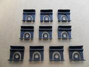 10 Nos Windshield And Backglass Molding Clips And03964 1/2 Thru 66 Ford Mustang 7110z
