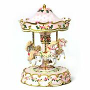 Hearts And Roses 3 Horse Carousel San Francisco Music Box Classic Carousels