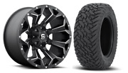 20x10 Fuel D546 Assault 33 Mt Wheel And Tire Package 8x180 Chevy Silverado