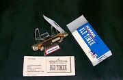 Schrade 18ot Mighty Mite Knife Old Timer 2-3/4 Circa-1980and039s W/packagingpapers