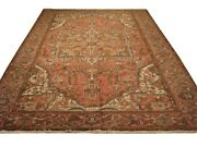 Authentic Wool Rnr-6923 8and039 1 X 11and039 0 Persian Heriz Rug