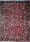 Authentic Wool Rnr-9197 8and039 8 X 12and039 3 Persian Heriz Rug