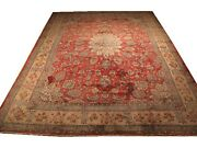 Authentic Wool Rnr-5599 9and039 0 X 13and039 9 Persian Sarouk Rug