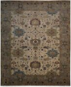 Authentic Handmade Wool 8and039 0 X 9and039 9 India Mahal Rug Rnr-9906