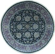 Authentic Wool 8' 4 X 8' 4 India Agra Round Rug Rnr-9043