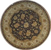 Authentic Wool 8and039 0 X 8and039 1 India Sultanabad Round Rug Rnr-9602