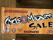 Vintage Schwinn Cycle Madness Sign Banner 6and039 X 3and039