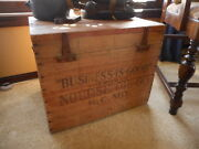 Rare Nourse Oil Company Co Business Is Good Wood Shipping Crate Box Antique Red