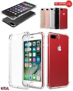 Lot Pack Of Clear Hard Ultra Thin Tpu Bumper Case For Apple Iphone 6/7/8 Plus