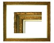 Large Original Anglo-japanese Gilt Picture Frame 33 3/4 X 40 1/2 Overall