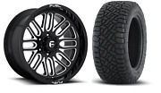 20x10 Fuel D663 Ignite 32 At Wheel And Tire Package 8x180 Chevy Silverado