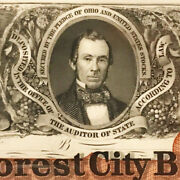 The Forest City Bank Cleveland Ohio 1 Obsolete Proof - Amazing Detail.