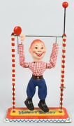 Vintage Howdy Doody Acrobat Tin Wind-up By Arnold 1950s West Germany