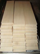 Ten 10 Pieces Thin Kiln Dried Sanded Maple 12 X 4 X 1/8 Lumber Wood