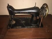 singer Antique Treadle Sewing Machine And Fancy 7 Drawer Cabinet As Is