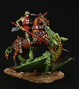 Elite Tin Soldier St George And The Dragon 54 Mmmetal Sculpture.