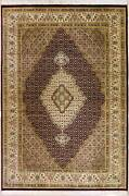 Rugstc 7x10 Senneh Pak Persian Red Area Rug Hand-knottedfloral With Silk/wool
