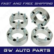 4 Pc 2 Ram 1500 5x5.5 Conversion Adapter To 6x5.5 Chevy Wheels
