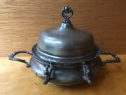 Forbes Silver Co. Quadruple Silver Plated Butter Dish Pattern 183